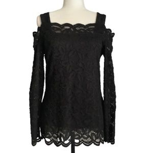 CLEO COLD SHOULDER LACE TOP SIZE S